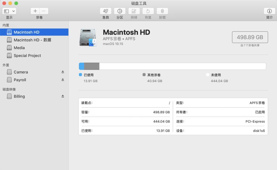 Mac磁盘工具